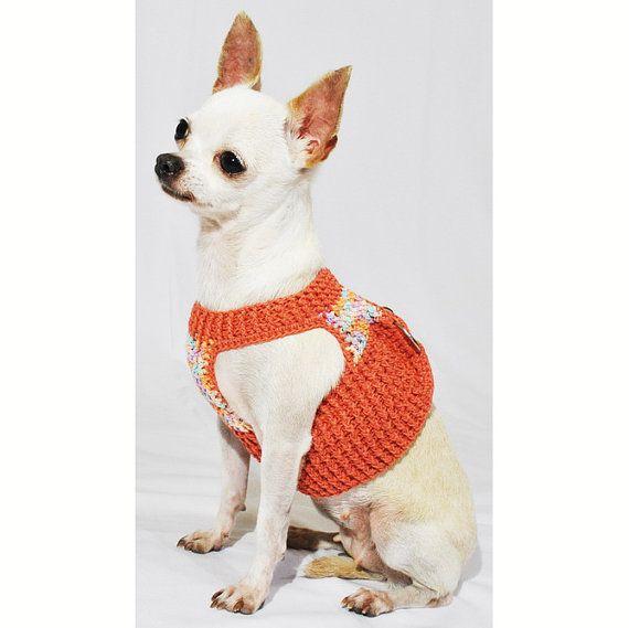 Velcro perro arnés chaleco hecho a mano Crochet tierra por myknitt