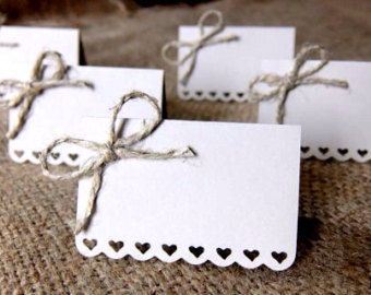 Wedding Place Cards Set of 50 Escort Cards Name by Loverlees