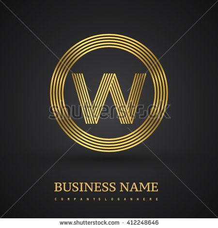 Elegant gold letter symbol. Letter W logo design. Vector logo design template elements  for company identity. - stock vector