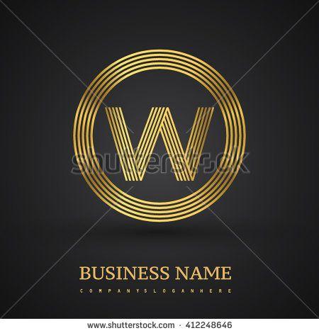 Elegant gold letter symbol. Letter W logo design. Vector logo design template elements  for company identity. - stock vector