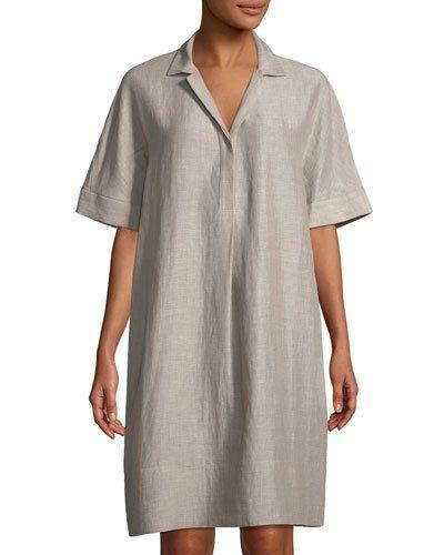 Zamira Linen Shirtdress