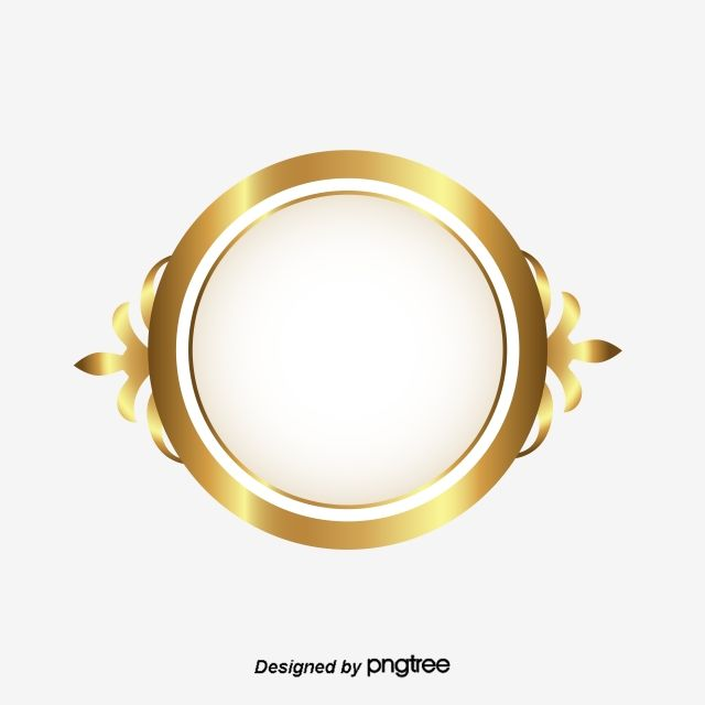 Golden Circle Frame The Flowers Patterns Classic Style Style Luxury Thai Circle Frames Frames Design Graphic Golden Circle