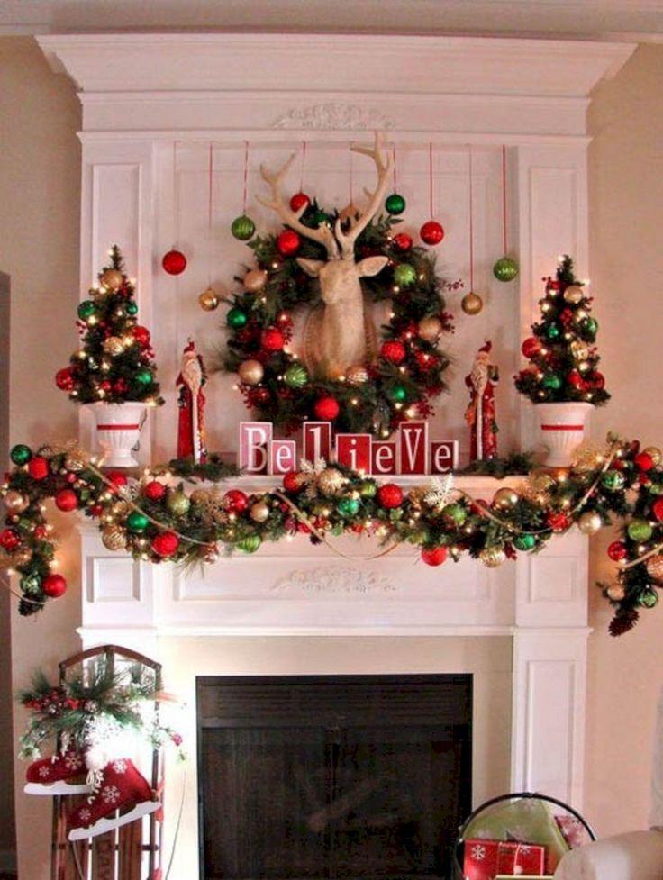 Flawless 35+ Amazing Christmas Mantle Decor Ideas https://freshouz.com/35-amazing-christmas-mantle-decor-ideas/