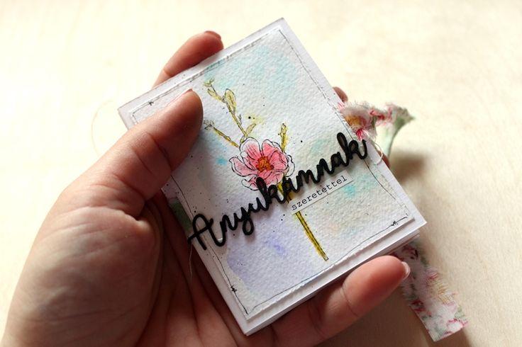 Édesanyámnak scrapbook minialbum by Tamara Tihany for mothers day