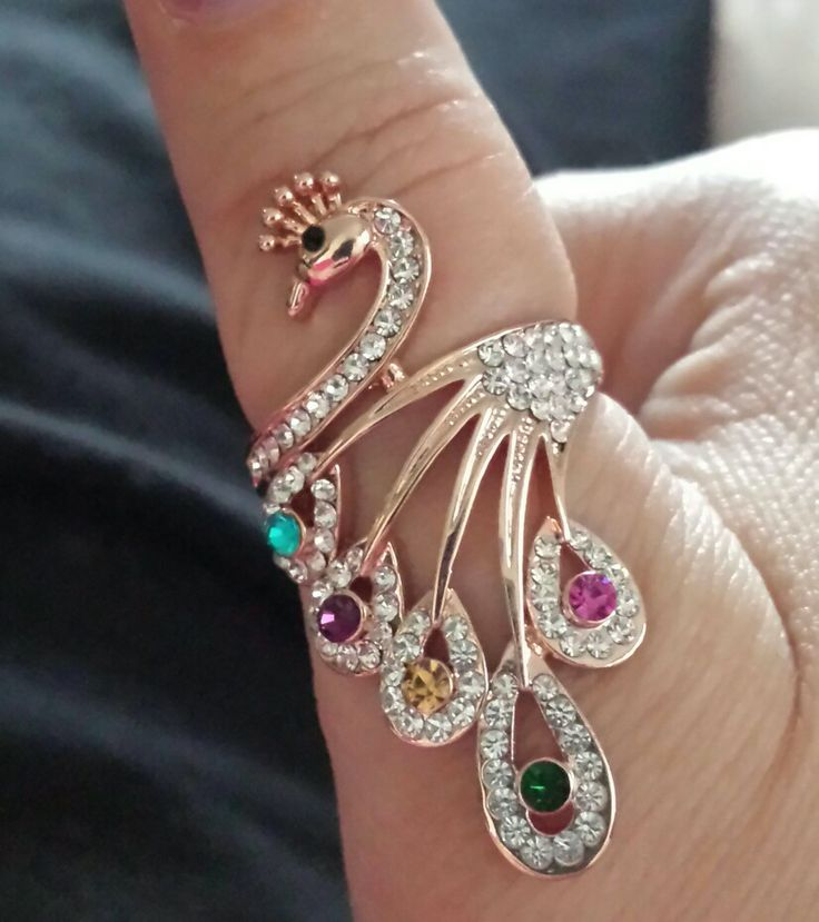 Peacock ring found on Amazon