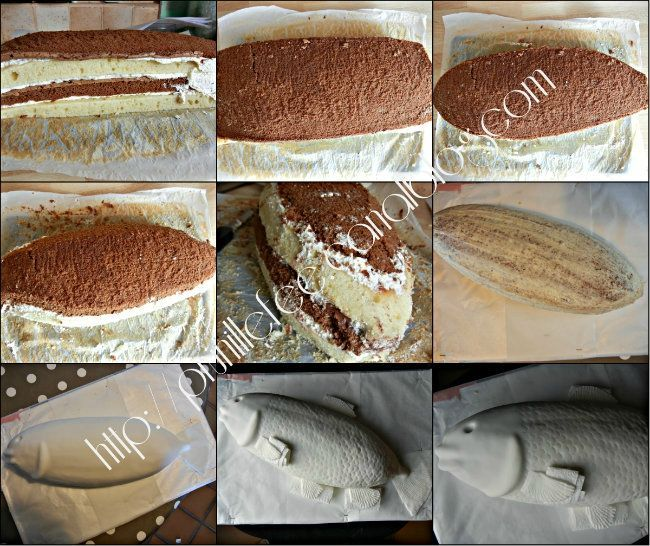 step by step cake fish
