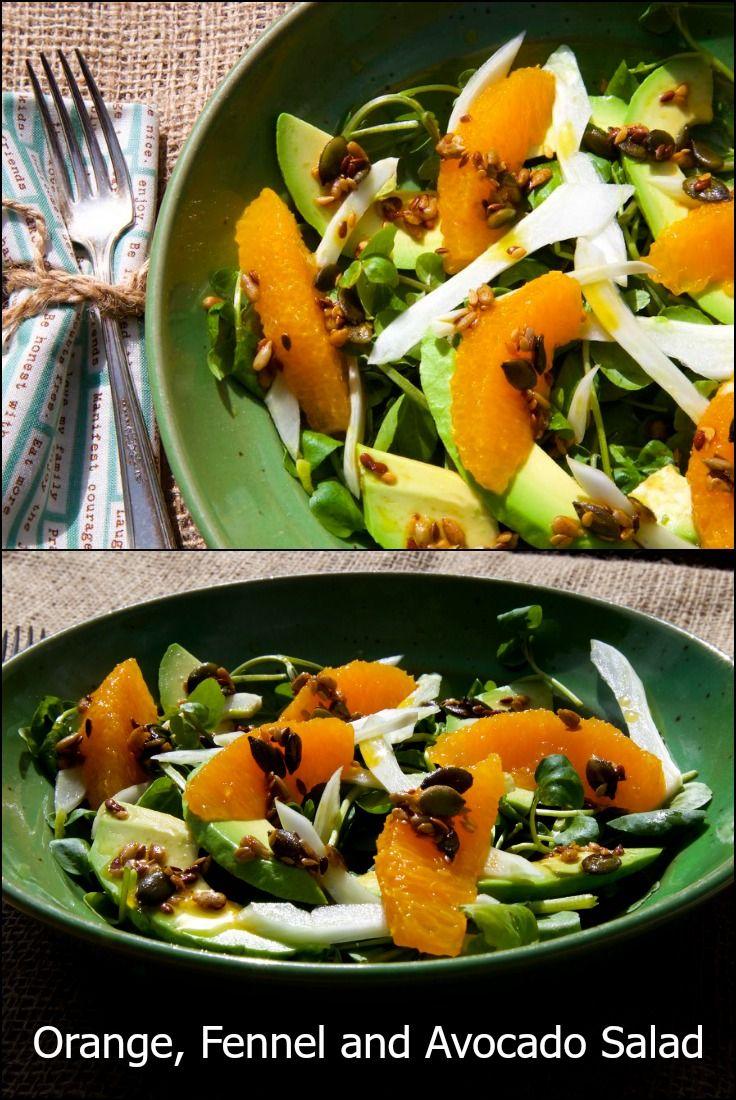 Orange, Fennel and Avocado Salad, winter salads, citrus recipes