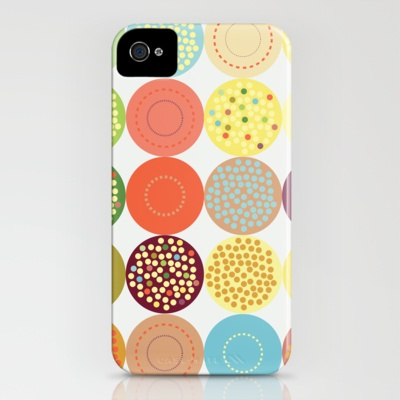 Circle pattern iPhone Case by cat-insch - $35.00