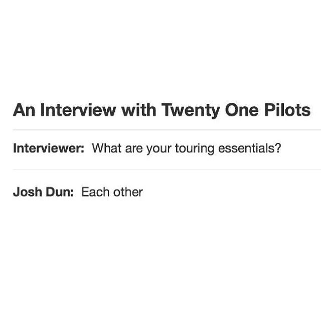 best 25 twenty one pilots interview ideas on pinterest 21 pilots tyler joseph twenty one piolts and joseph band - Second Interview Tips Second Interview Questions Part2