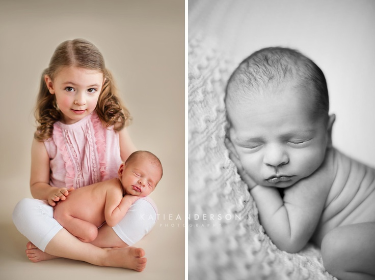 Newborn Sibling Photo Ideas With Toddler Pose