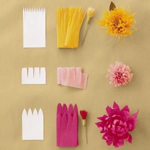 Continuous-Petal Method crepe paper flowers