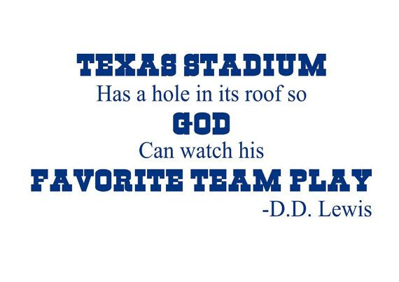 Dallas Cowboys Wall Decal QuoteTexas Stadium by thevinylwallart, $14.00