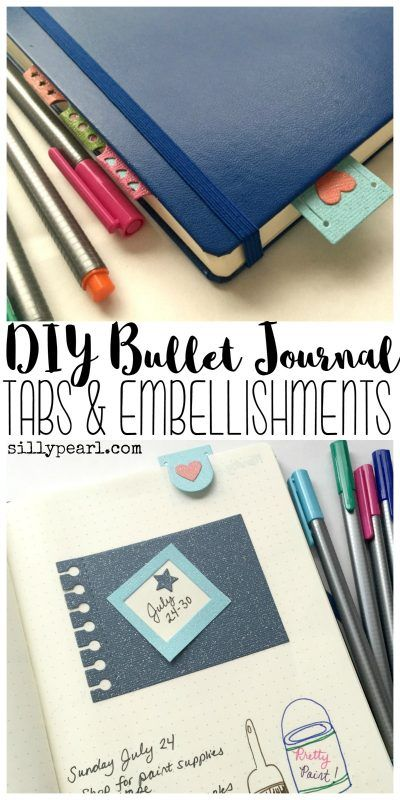 How to make your own Bullet Journal tabs and embellishments with metal dies and your own pretty papers!