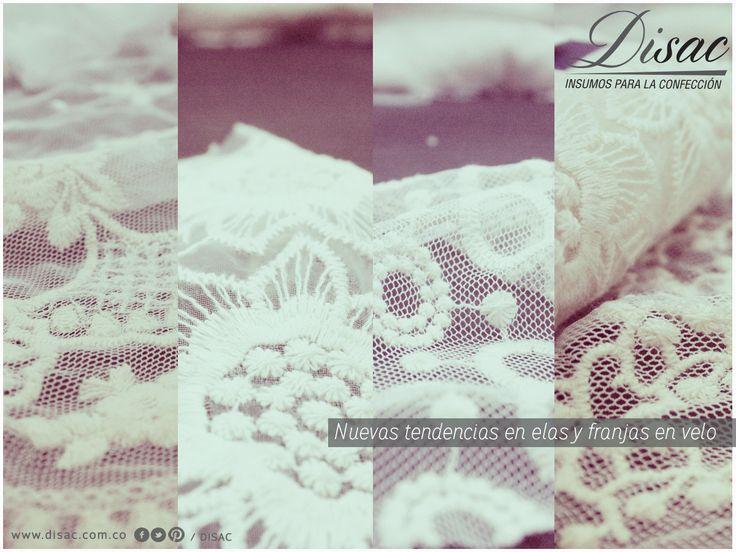 Conoce nuestra línea de productos en telas y franjas en velo y la diversidad de materiales para ser parte de tus diseños