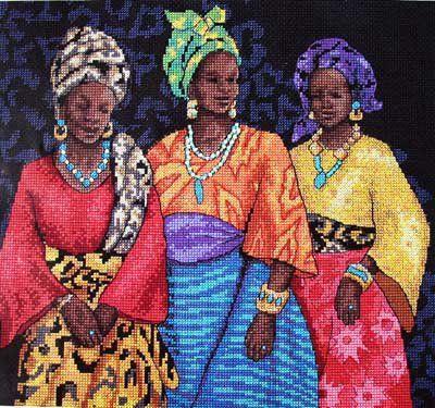 ethnic women cross stitch patterns - Google Search