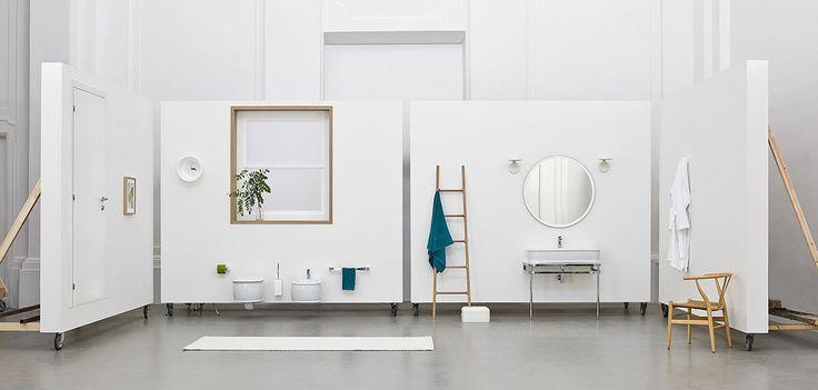 Azuley, design Meneghello Paolelli Associati. The.Artceram bathroom collection. Wall - hung sanitaryware.