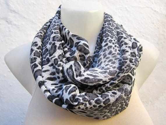 Leopard pattern ScarfInfinity ScarfTube scarf Circle by scarfnurlu