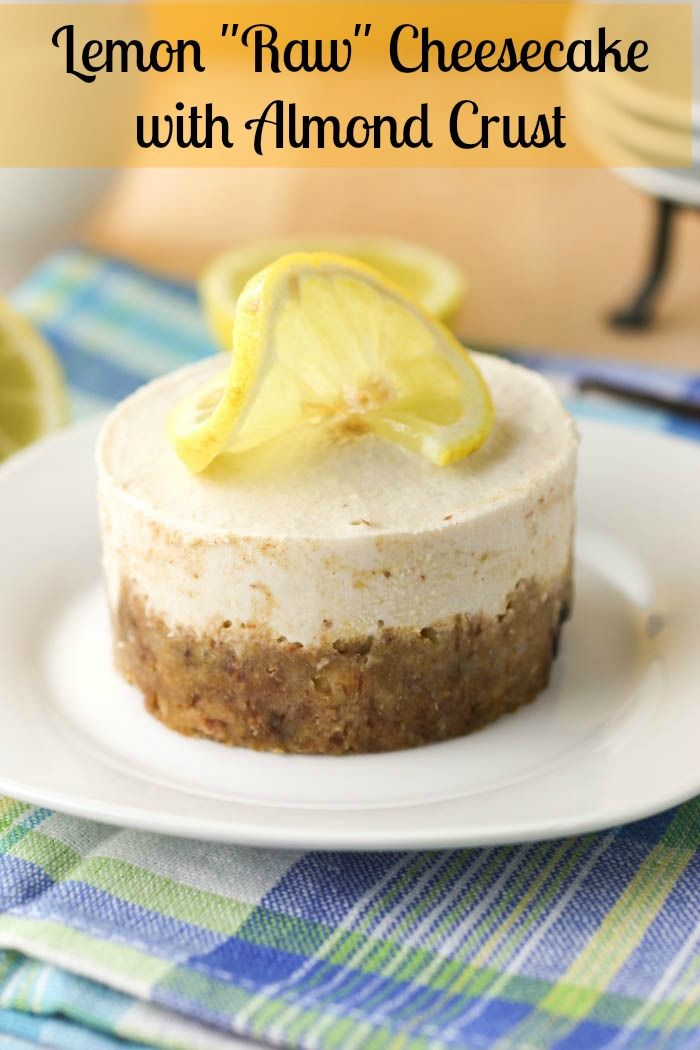 "Lemon ""Raw"" Cheesecake with Almond Crust"