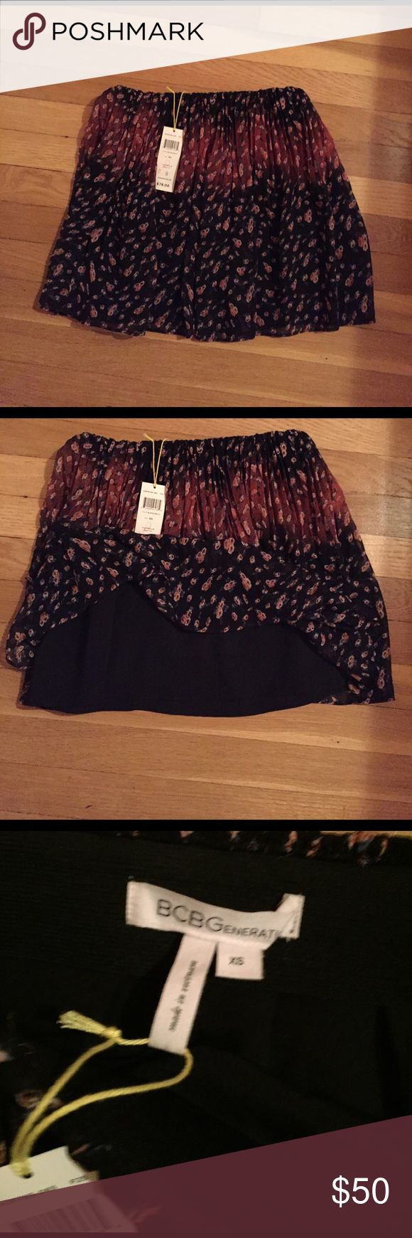 NWT BCBGeneration MINI This is a beautiful skirt NWT Ombro' BCBGeneration Skirts Mini