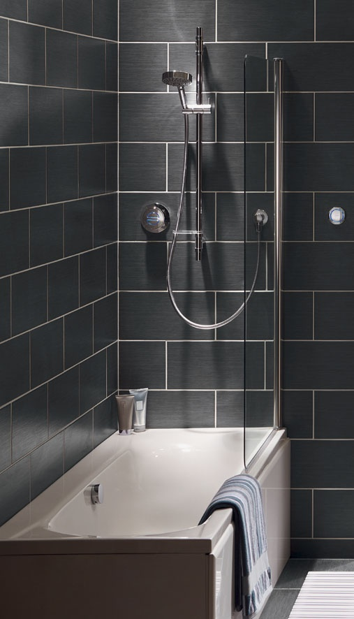 If you're a bit squished for space, why not think about installing your shower over your bath? Rise Digital lets you switch between its showerhead and bathfill at the touch of a button - so you'll get the best of both worlds!