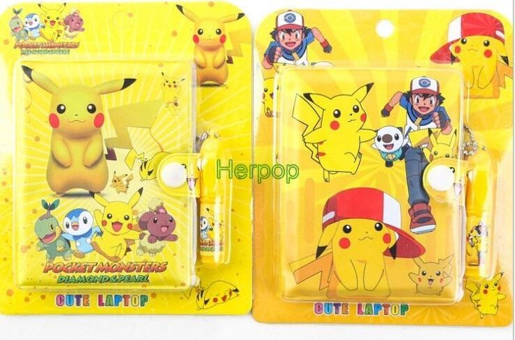 16Sets Pokemon Go Notebook Pen Student Diary Book Cartoon Student Notepad Gifts