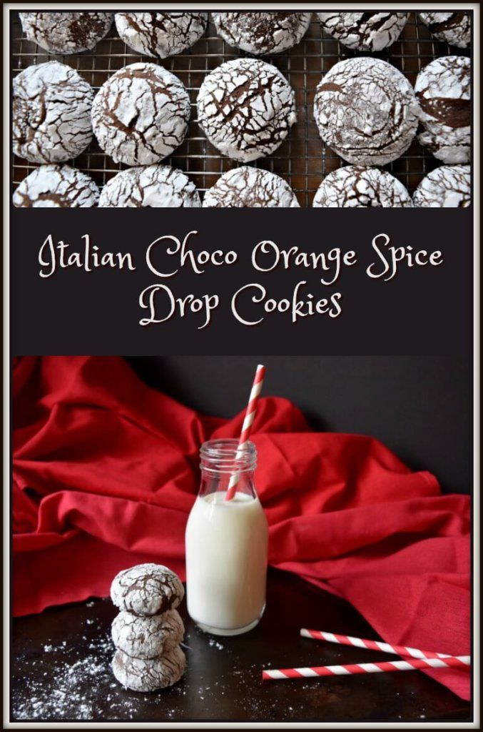 """Do you like """"old school"""" Italian cookies? If you do, I have the perfect cookie for you... Italian Choco Orange Spice Drop Cookies"""