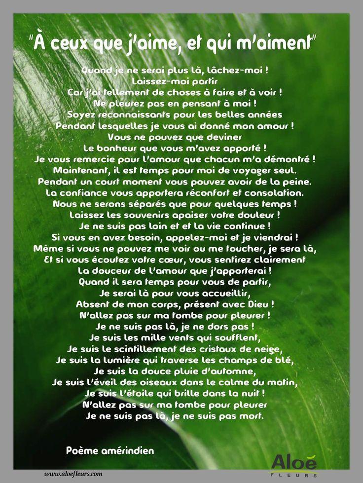 poeme Amerindien A Ceux Que J'aime