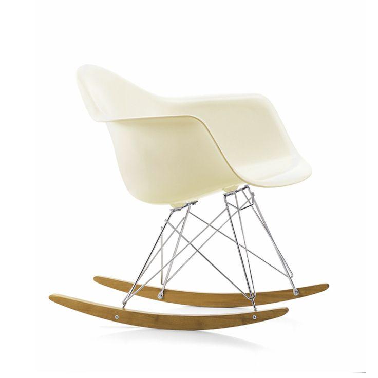 Eames Plastic Armchair RAR gungstol - Eames Plastic Armchair RAR gungstol - cream