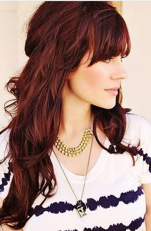 red hair with bangs...missing my bangs now