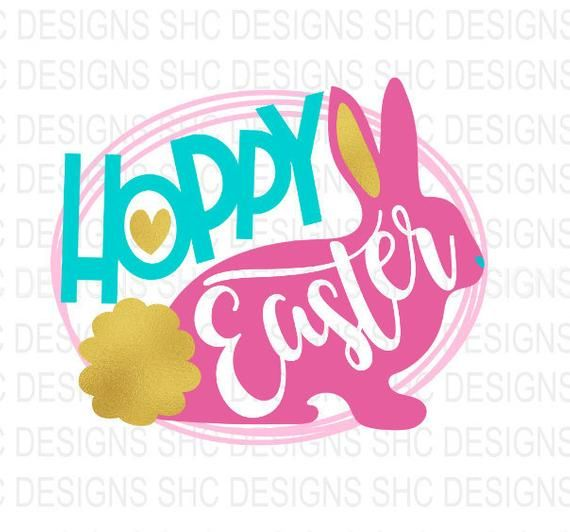 Happy Easter Bunny Rabbit Iron or Sewn-on Embroidered Decorative Patch Egg Hunt