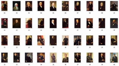 List of all 44 American presidents.. The last four are list separately..