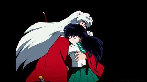 Inuyasha and Kagome kiss | Inuyasha | Pinterest | Posts ...