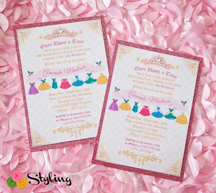 best 25+ disney princess birthday ideas on pinterest | disney, Birthday invitations