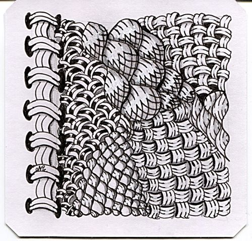 One of the big things I took from reading Magic Moments was that when you zentangle you should really get to know a tangle pattern and try to make it your own. So I've been having fun lately …