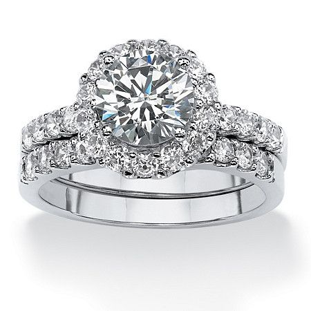 with 271 carats tw of mega watt sparkle this round cubic zirconia circle wedding - Inexpensive Wedding Rings