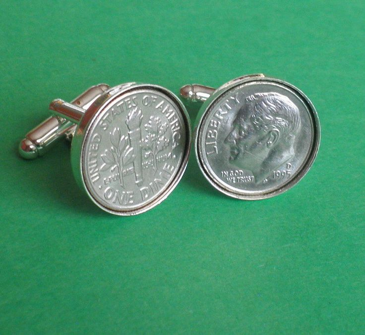 1995 American Coin Cufflinks,  21st Birthday Gift, President Roosevelt coin by…