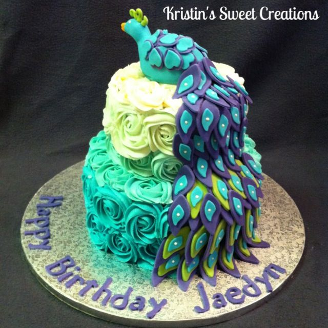 44 best Peacock Cakes images on Pinterest Peacock cake Cake