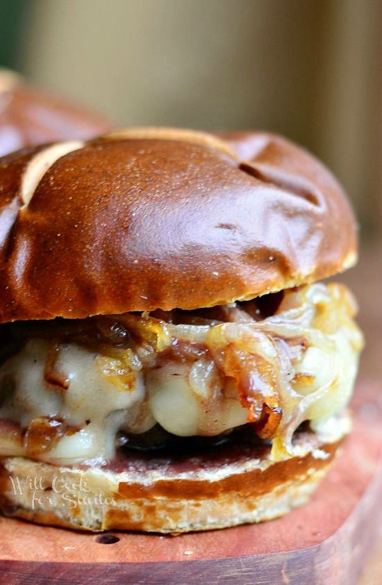 Buffalo Burger with Caramelized Onions and Demi Glace 3 from ...
