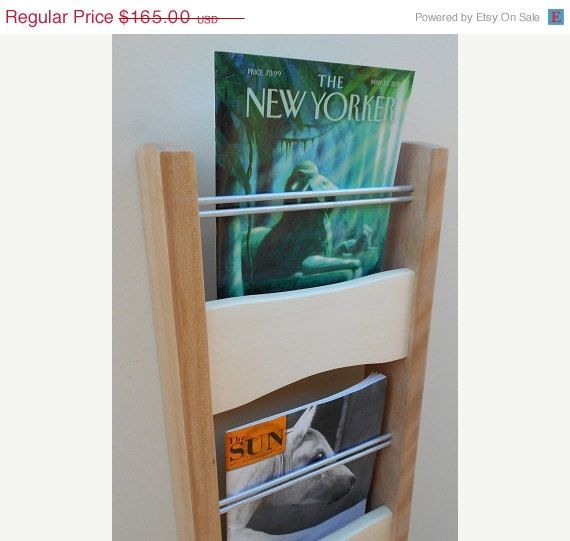modern magazine rack wall mounted magazine rack birch and aspen wood walll magazine holder office magazine rack