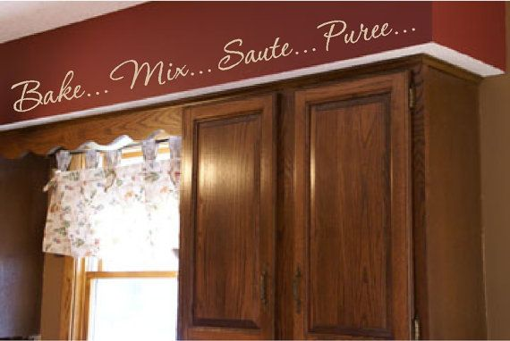Kitchen Words Actions Wall Border Soffit Border by VisionsInVinyl, $44.00