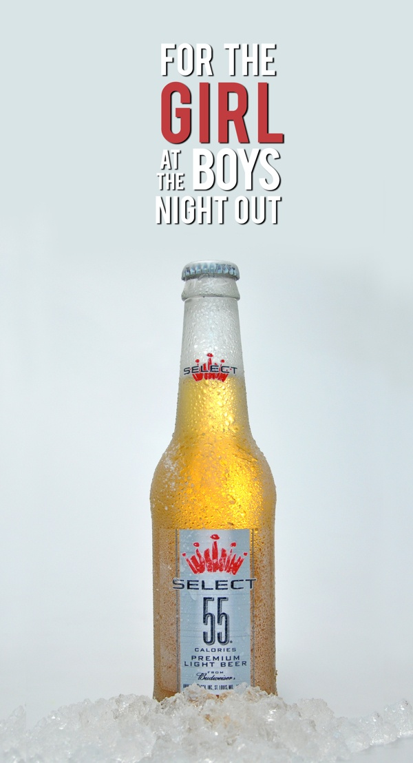 Budweisers Select 55 - Premium Light Beer on Behance