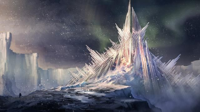 artwork Fortress of Solitude DC Universe Online (request I think you meant this place, msg me again if not)