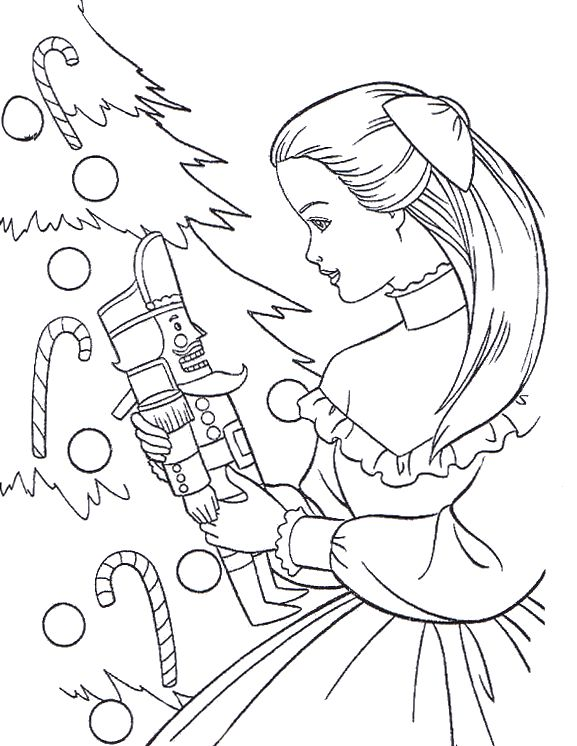 BARBIE COLORING PAGES: BARBIE CHRISTMAS COLORING PICTURE ...