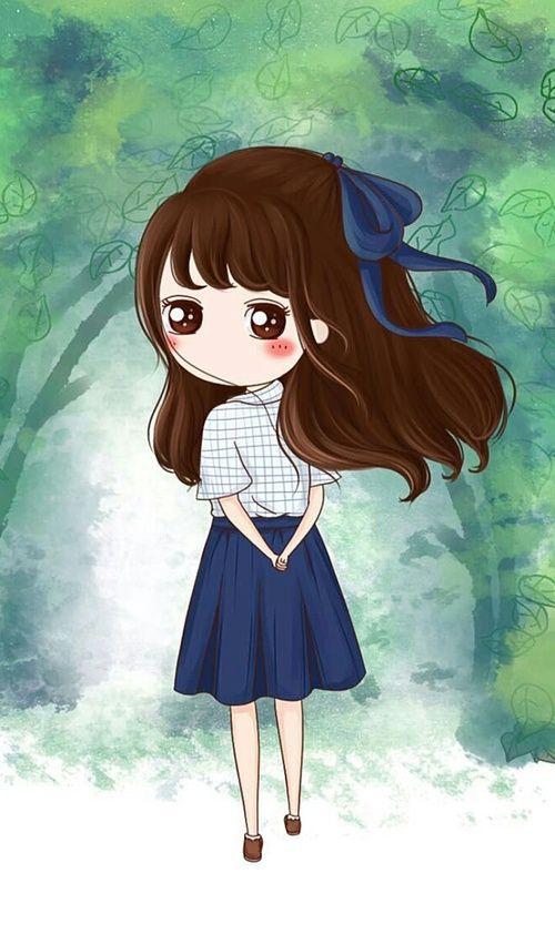 Cute Korean Cartoon Wallpapers Art Cute Baby And Illustration Image Cute Girl Anime