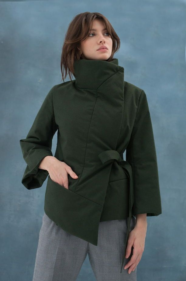 Утепленная куртка-кимоно с укороченными рукавами 7/8 (арт.: SS/1801-M4)