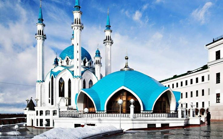 Qol Sharif Mosque, Russia http://www.acenature.com/most-beautiful-mosques-in-the-world/