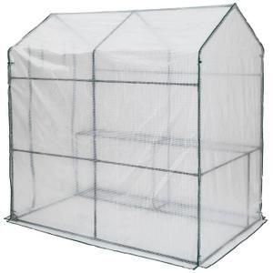 Serre de Jardin transparente avec 4 étagères et une bâche souple - 186 x 120 x 190 cm - Achat / Vente serre de jardinage Serre de Jardin transparente - Cdiscount