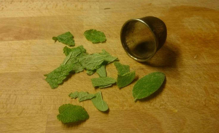 Salbei-Zitronenmelisse-Tee vom Balkon Auf die Hand - Blog #zerowaste