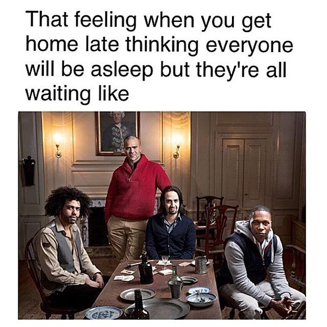 I wouldn't mind them waiting for me