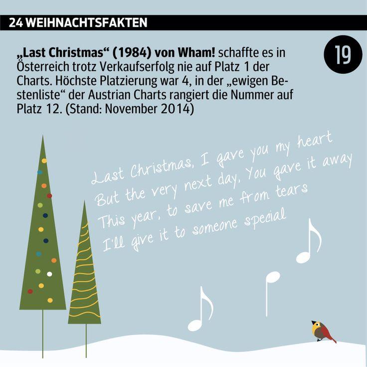 #Advent, Advent: #Türchen Nummer 19.  ______________________ #Adventkalender #Weihnachten #WusstenSieDass #xmas #Daten #Grafik #kurier _______________________ http://kurier.at/weihnachten